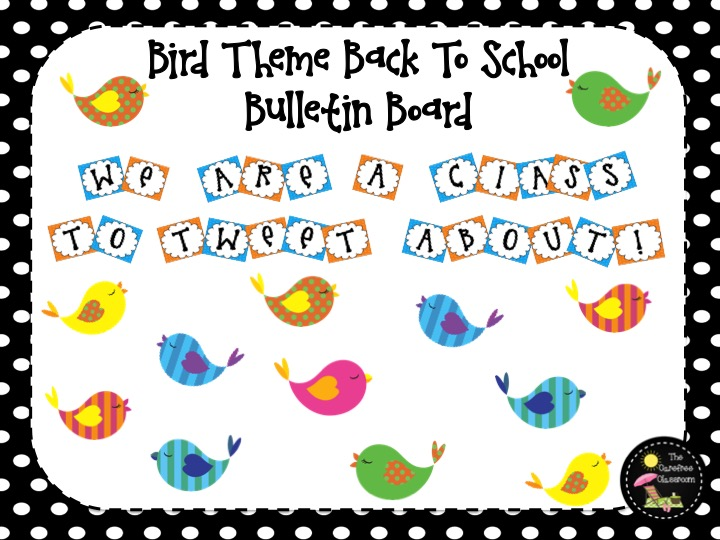 Bulletin Board Set: Bird Theme Back To School Set