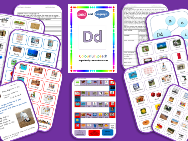 Sound/Phoneme 'D' resources -Initial, Medial and End Position.