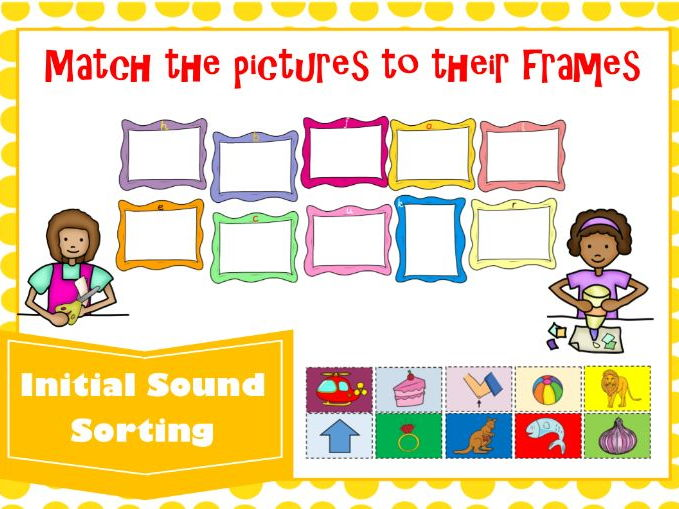 Phase 2 Initial Sounds Sorting Activity