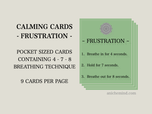 Frustration Calming Cards (Self Esteem)