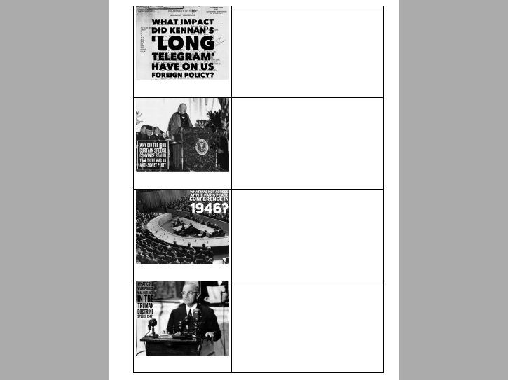 AQA A-Level History The Cold War complete course knowledge booklets and work booklets