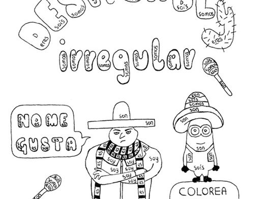 Color by conjugation SER (to be) Spanish Despicable Me no prep practice