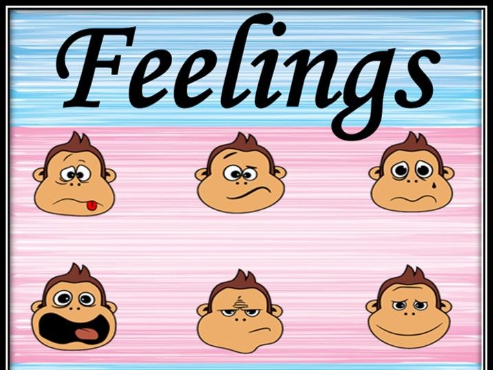 Feelings and emotions. Matching game.