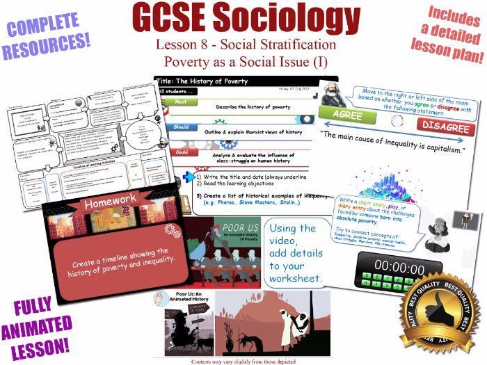 Poverty as a Social Issue (I) - Social Stratification -L8/20 [ WJEC EDUQAS GCSE Sociology ]