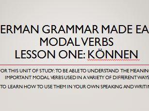German modal verbs. Complete short lessons. können