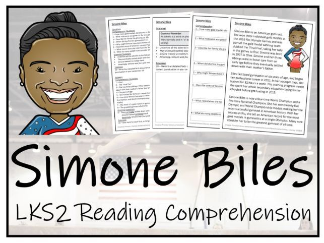LKS2 Simone Biles Reading Comprehension Activity