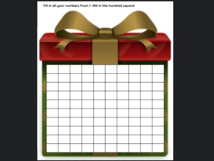 Christmas Present 100 Square