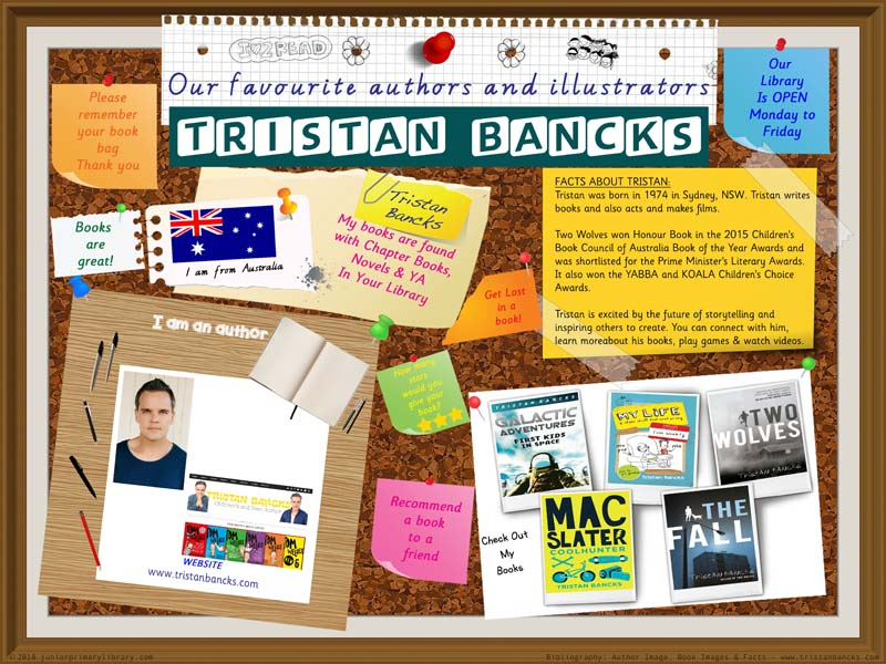 Library Poster - Tristan Bancks Australian Author Of YA Books Library Poster