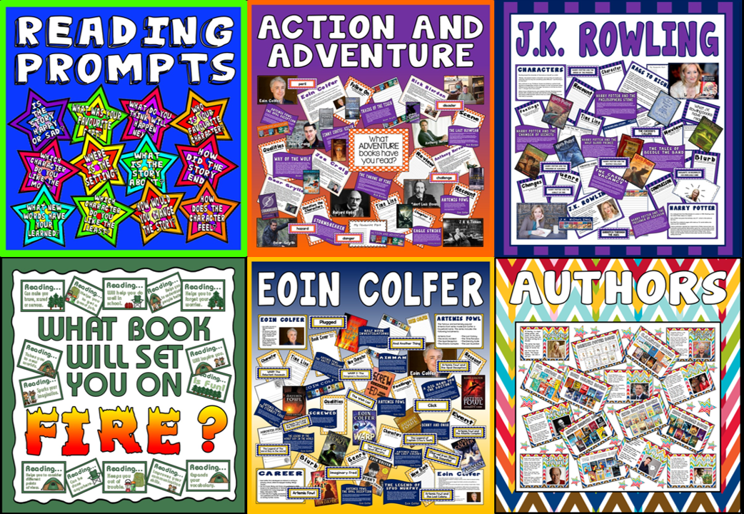 *BUNDLE* READING RESOURCES, AUTHORS, ACTION AND ADVENTURE J.K ROWLING