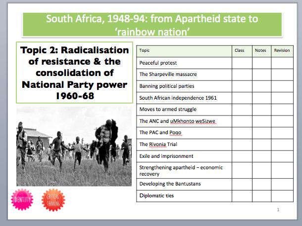 South Africa Booklet 2: Radicalisation of resistance