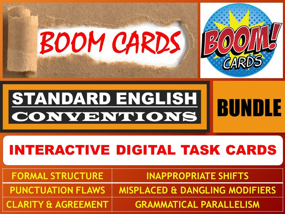 STANDARD ENGLISH CONVENTIONS: BOOM CARDS - BUNDLE