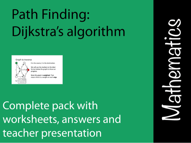 Dijkstra's Algorithm  for Maths