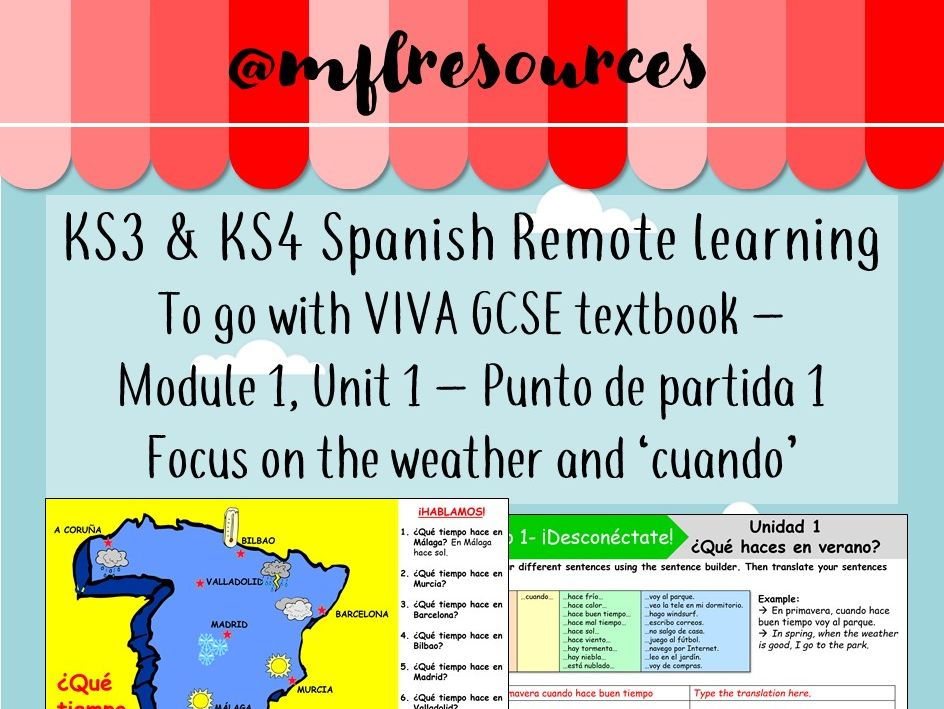 KS3 & KS4 Spanish - Viva texbook (foundation) Module 1 - Unit 1 - Punto de partida 1 (part 2)