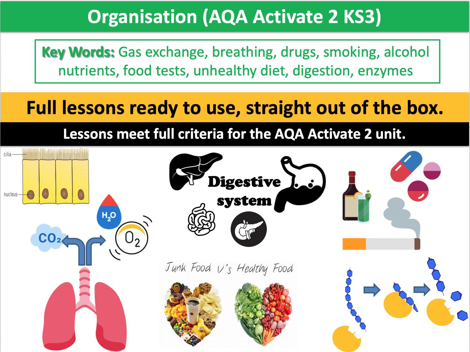 Organisation (AQA Activate 2 KS3)