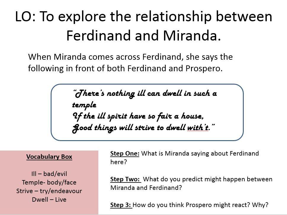 The Tempest - Ferdinand and Miranda