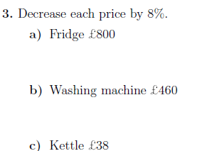 Percentage increases and decreases worksheet (with solutions)