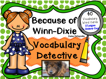 Because of Winn-Dixie Vocabulary Detective