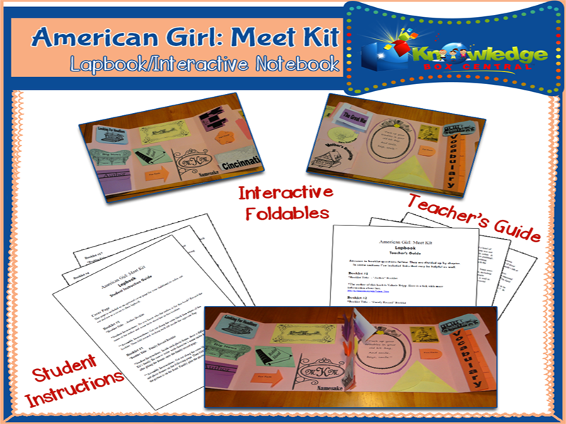 American Girl: Meet Kit Lapbook