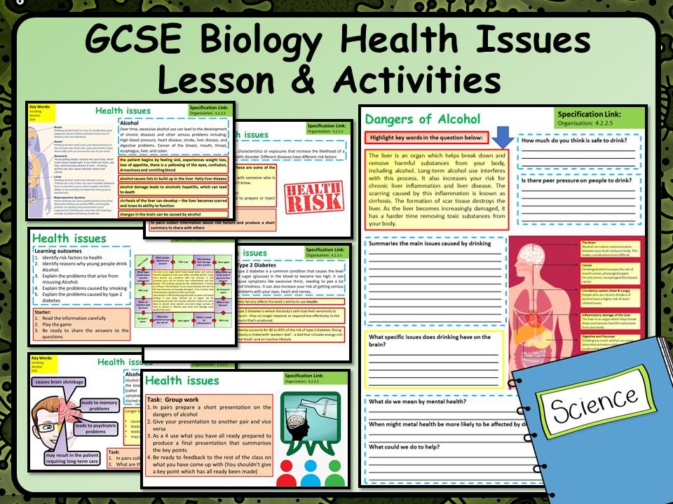 KS4 AQA GCSE Biology (Science) Health Issues Lesson