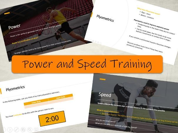 BTEC Sport L3 - Power and Speed Training