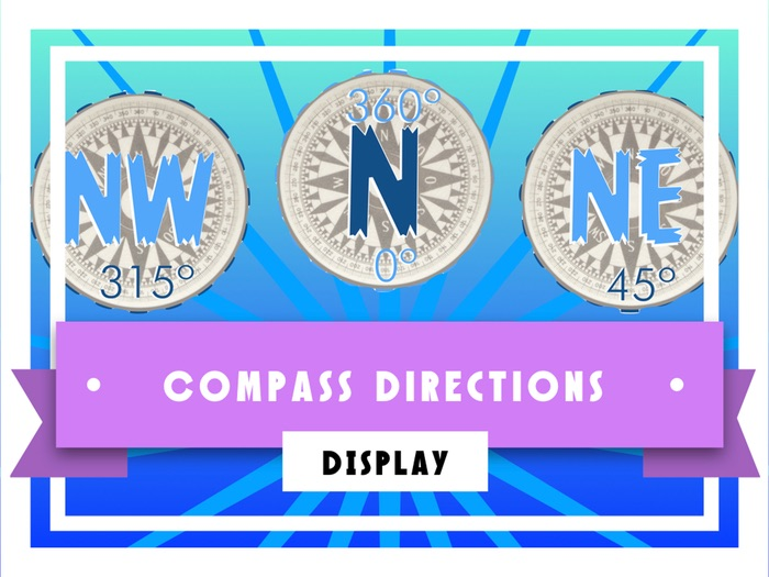 Compass Directions Display
