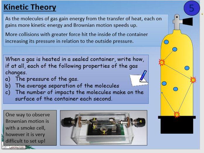 KS4 P6.6 Gas pressure and temperature