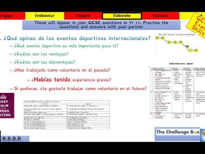 Viva GCSE - Module 8 - El deporte nos une - Lesson 2