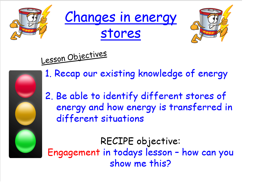 NEW AQA PHYSICS: P1 Conservation and dissipation of energy