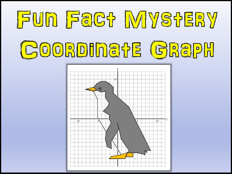 Penguin Mystery Coordinate Graphing Picture