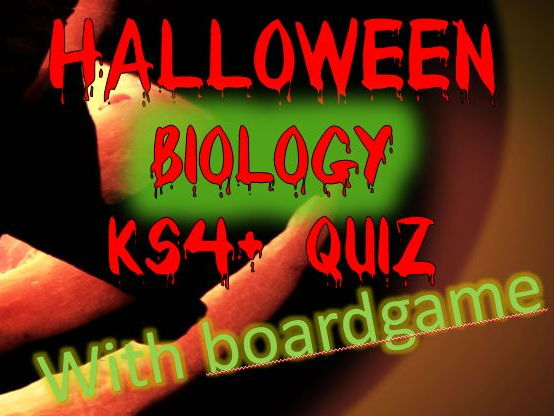 Halloween Quiz and Boardgame - Biology Edition