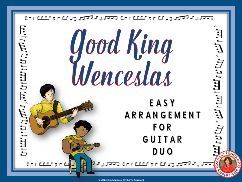 Good King Wenceslas: Easy Guitar Duo