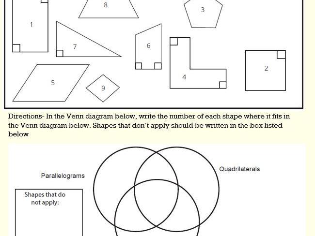 Sort 2 D Shapes Into A Venn Diagram By Gazza1973 Teaching