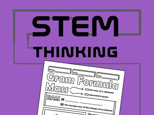 Gram Formula Mass Chemistry Doodle Notes