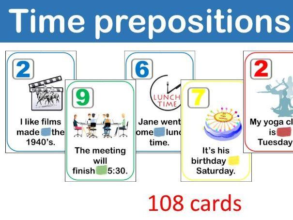 UNO Time prepostitions