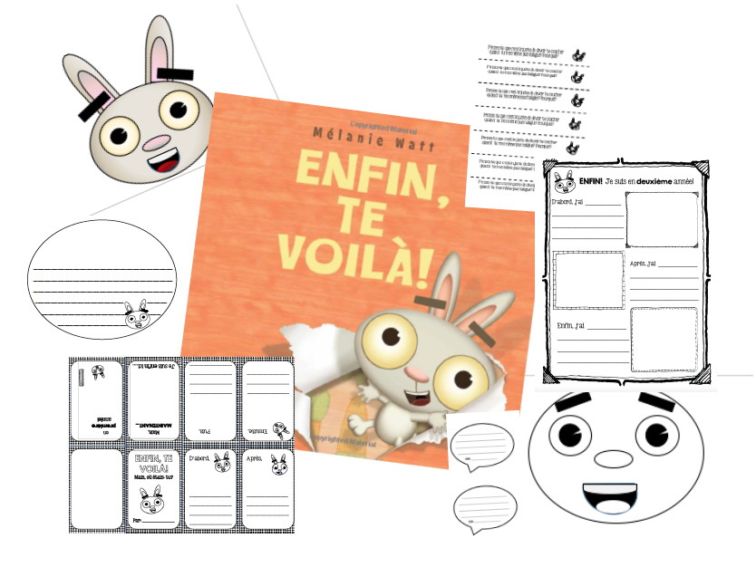 Enfin Te Voila - Back to school activities to accompany the book