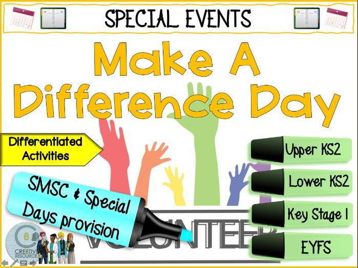 Make A Difference Day - Primary PSHE
