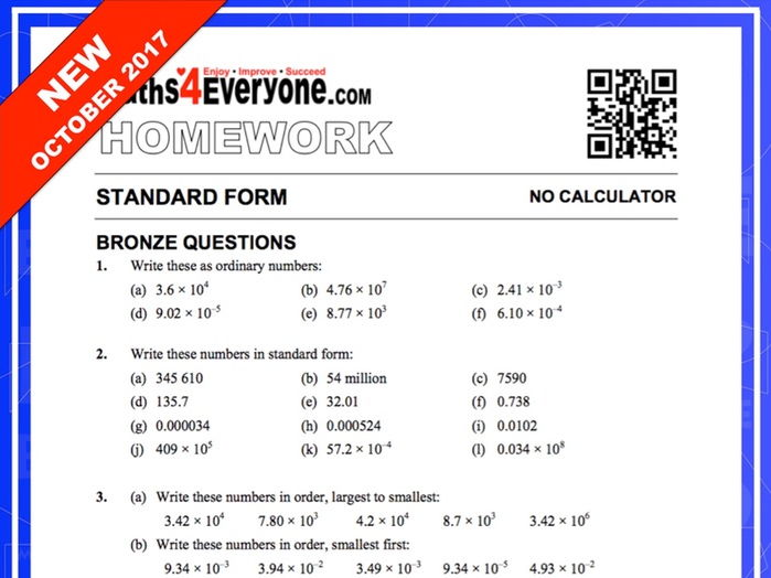 Standard Form (with Solutions)