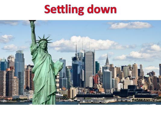 KS3 Settlements - Settling down
