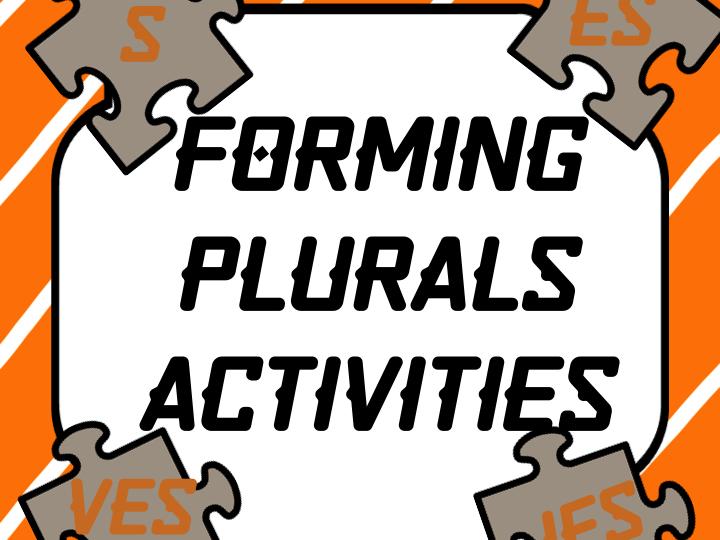 Forming Plurals 3 COMPLETE CENTER ACTIVITIES