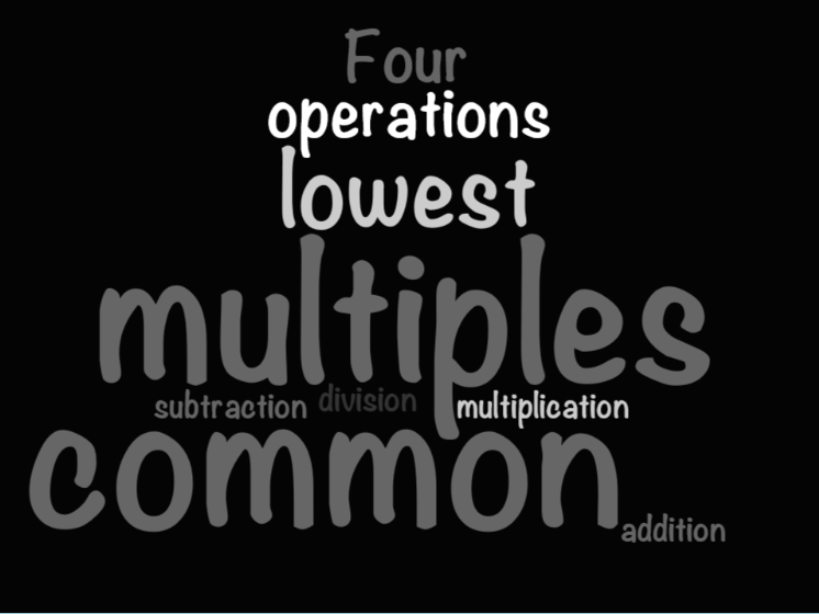 UKS2 (Year 5 and Year 6) - Multiples, Common Multiples and Lowest Common Multiples