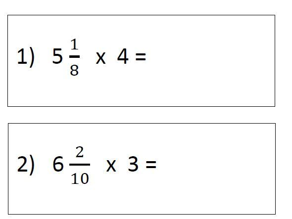 Multiply Mixed Numbers by an Integer Y5