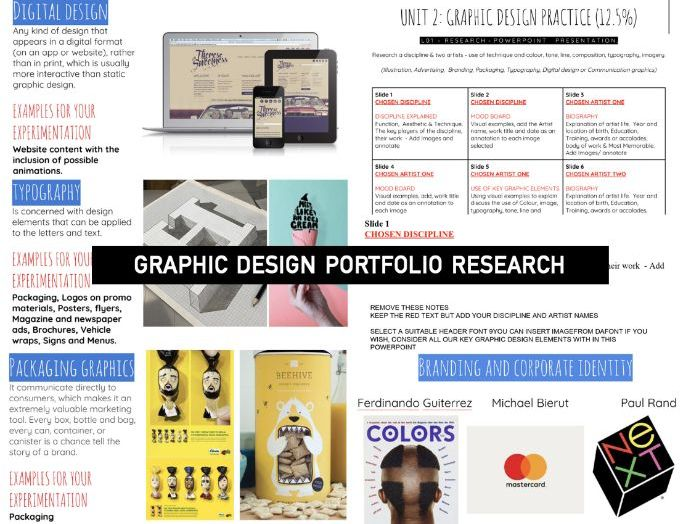 GCSE GRAPHIC Design   Research DISCIPLINES styles