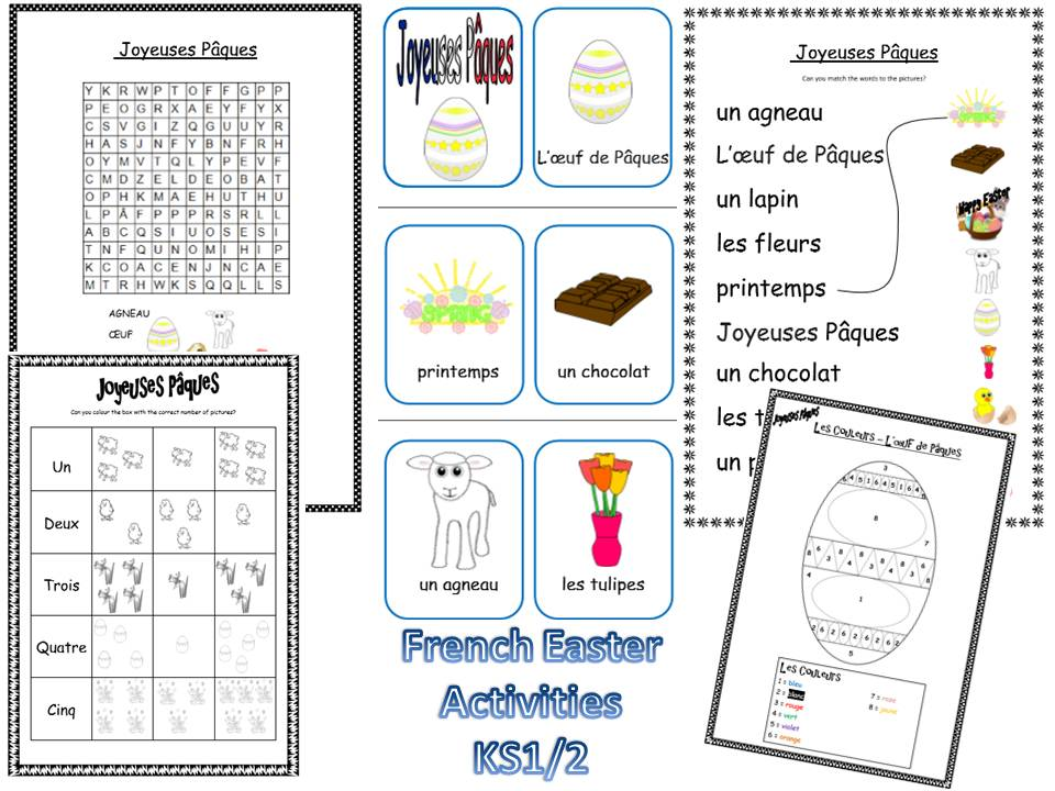 French Easter Resources KS1/2