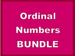 Numeri ordinali (Ordinal Numbers in Italian) Bundle