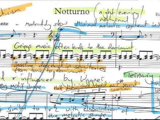 Grieg Notturno Op. 54. No.4-Annotated