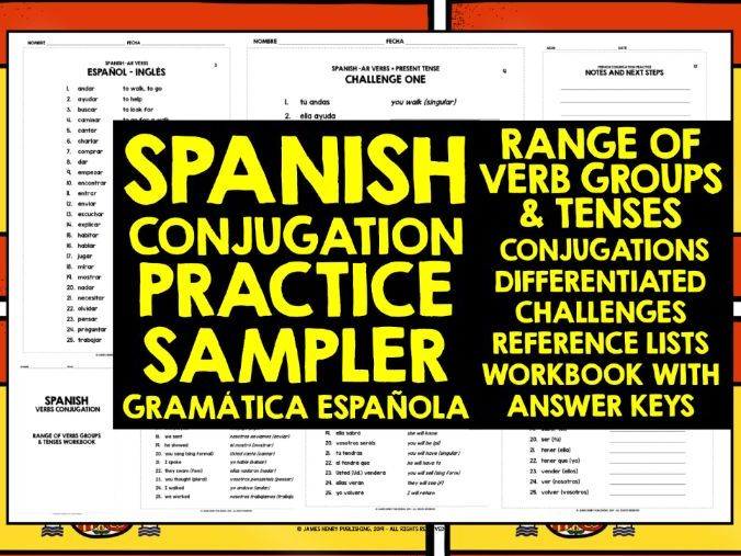 SPANISH CONJUGATION PRACTICE SAMPLER