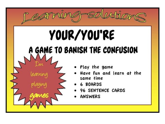 CONFUSED WORDS GAME - YOUR and YOU'RE