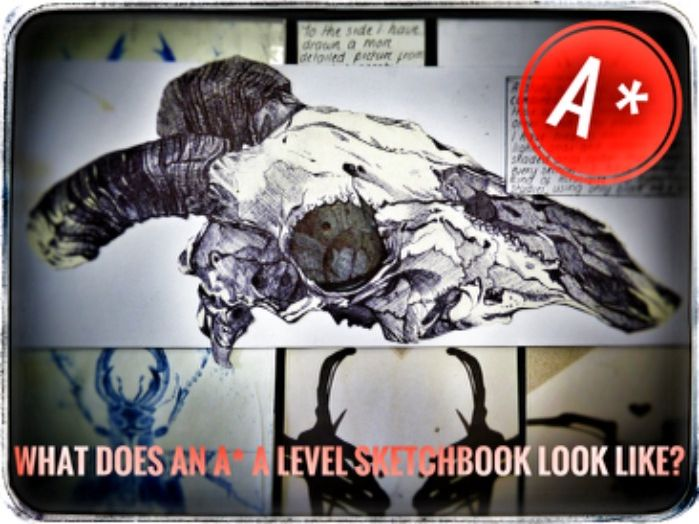 Art. A* A Level Art Sketchbook Example