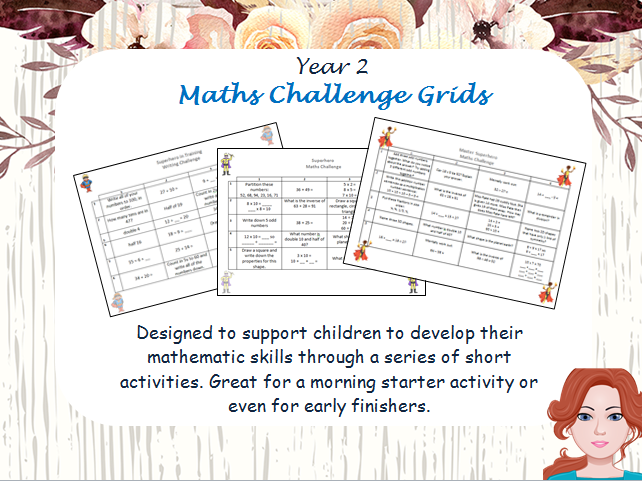 Year 2 Maths Challenge Activities (Differentiated)