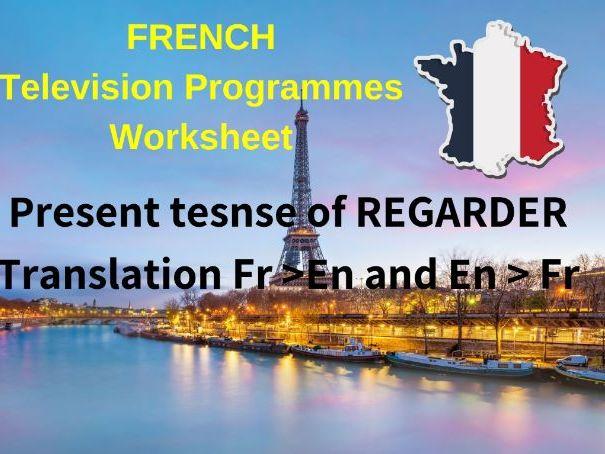 French Present Tense TV Programmes